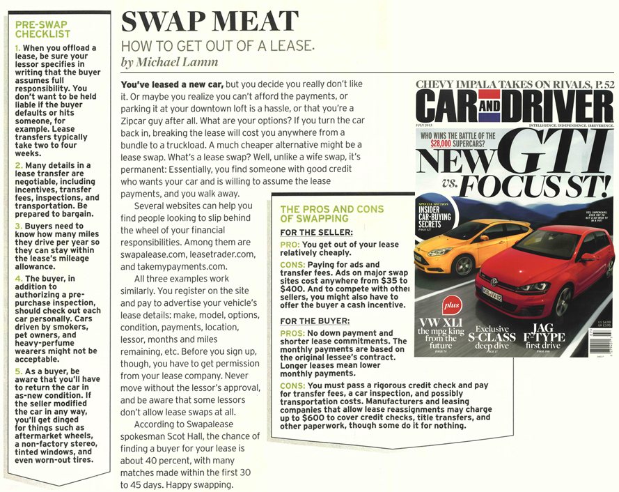 Swat Meat - Car & Driver article