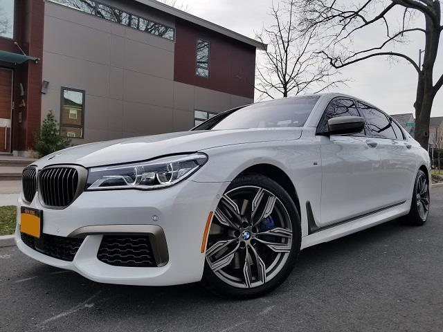 Amazing Deal On This Pristine Condition 2018 BMW 7 Series M760i XDrive AWD Sedan Gorgeous Mineral White Metallic Exterior And Mocha Brown Nappa Leather