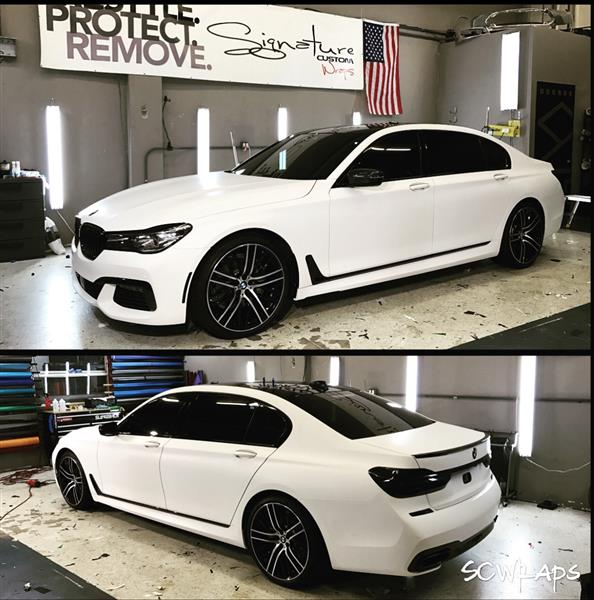 OUTSTANDING SHORTER TERM LEASE OFFER ON AN EXTREMELY POPULAR VEHICLE MINT CONDITION FULLY LOADED CUSTOM MATTE WHITE WRAP BLACKED OUT TAIL LIGHTS TINT