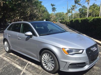 2016 Audi A3 Sportback e-tron lease in Miami,FL - Swapalease.com
