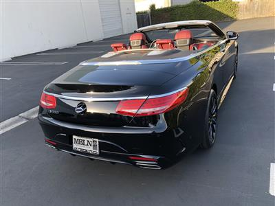2017 Mercedes-Benz S-Class Cabriolet lease in Irvine,CA - Swapalease.com
