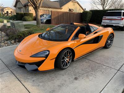 2018 McLaren 570S Spider lease in Sacramento,CA - Swapalease.com