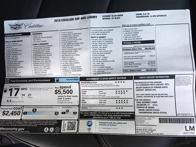 2018 Cadillac Escalade ESV lease in Los Angeles ,CA - Swapalease.com