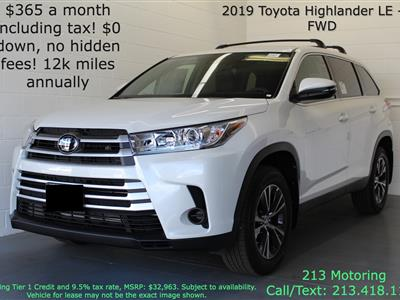 2019 Toyota Highlander lease in Los Angeles,CA - Swapalease.com