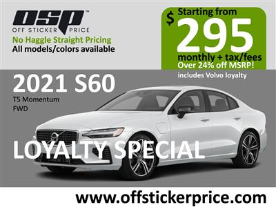 2021 Volvo S60 lease in Englewood Cliffs,NJ - Swapalease.com